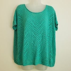 Hollister Green Lace Short Sleeve Coverup
